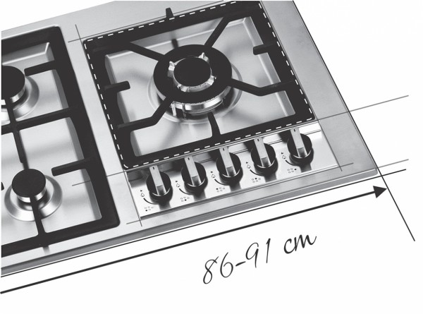 Steel Hob 86-91 cm